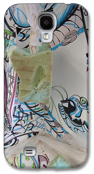 Abstracts Sculptures Galaxy S4 Cases -  Abstract Line Expressive Continuim Galaxy S4 Case by Casey P