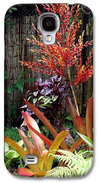 Bamboo Fence Galaxy S4 Cases - Tropical Garden Galaxy S4 Case by Karon Melillo DeVega
