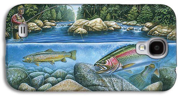 Tackle Galaxy S4 Cases - Trout View Galaxy S4 Case by JQ Licensing