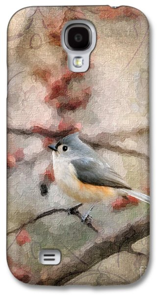 Tufted Titmouse Galaxy S4 Cases - Tufted Titmouse 2 Galaxy S4 Case by Betty LaRue
