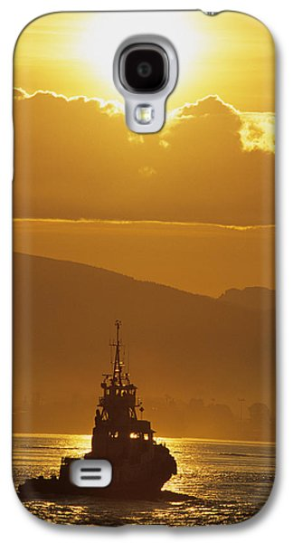 Burrard Inlet Galaxy S4 Cases - Tugboat At Sunrise, Burrard Inlet Galaxy S4 Case by Ron Watts