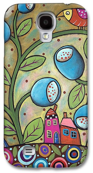 Landscape Greeting Cards Galaxy S4 Cases - Tulip Town Galaxy S4 Case by Karla Gerard
