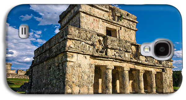 Ancient Galaxy S4 Cases - Tulum Temple Galaxy S4 Case by Meirion Matthias