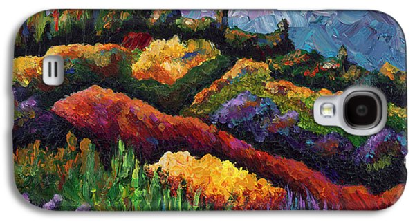 Tuscan Sunset Paintings Galaxy S4 Cases - Tuscan Hills at Sunset Galaxy S4 Case by Shawna Elliott