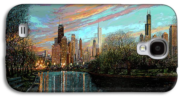 Park Scene Paintings Galaxy S4 Cases - Twilight Serenity II Galaxy S4 Case by Doug Kreuger