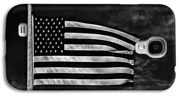 Stars And Stripes Mixed Media Galaxy S4 Cases - Twilights Last Gleaming BW Galaxy S4 Case by David Dehner