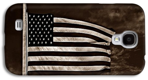 Stars And Stripes Mixed Media Galaxy S4 Cases - Twilights Last Gleaming S Galaxy S4 Case by David Dehner
