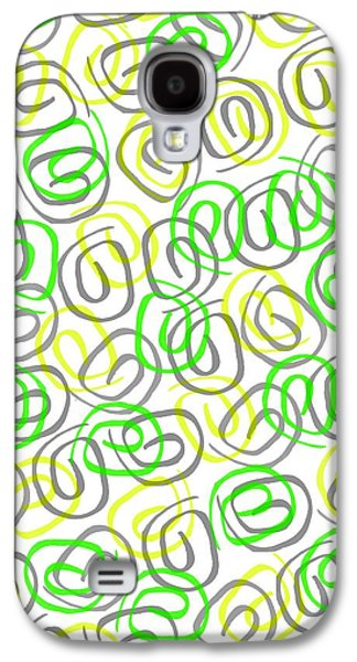 Louisa Galaxy S4 Cases - Twirls Galaxy S4 Case by Louisa Knight