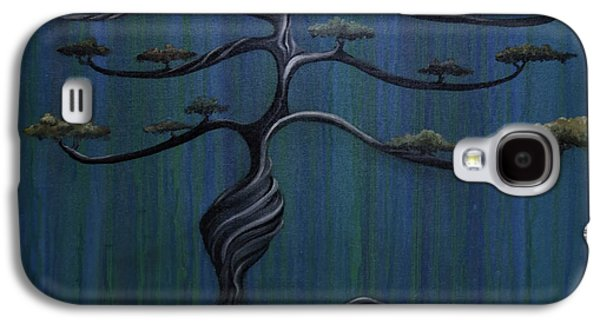 Abstract Nature Paintings Galaxy S4 Cases - Twisted Oak Galaxy S4 Case by Kelly Jade King