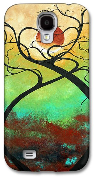 Whimsy Galaxy S4 Cases - Twisting Love II Original Painting by MADART Galaxy S4 Case by Megan Duncanson