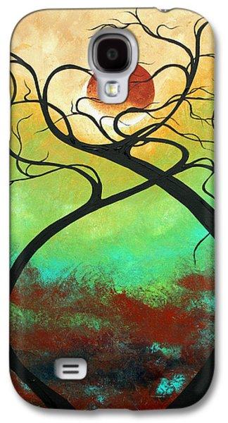 Madart Galaxy S4 Cases - Twisting Love II Original Painting by MADART Galaxy S4 Case by Megan Duncanson