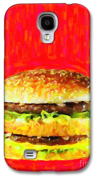 Wingsdomain Galaxy S4 Cases - Two All Beef Patties Galaxy S4 Case by Wingsdomain Art and Photography