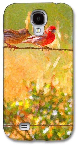 Wingsdomain Galaxy S4 Cases - Two Birds On A Wire Galaxy S4 Case by Wingsdomain Art and Photography