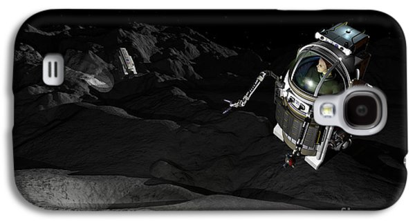 Planetoid Galaxy S4 Cases - Two Manned Maneuvering Vehicles Explore Galaxy S4 Case by Walter Myers