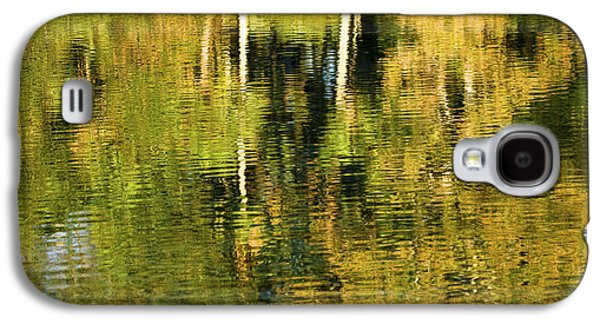 Trees Reflecting In Water Galaxy S4 Cases - Two Palms Reflected In Water Galaxy S4 Case by Rich Franco
