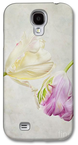 Studio Photographs Galaxy S4 Cases - Two Tulips Galaxy S4 Case by Nailia Schwarz