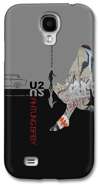 Sound Digital Galaxy S4 Cases - U2 Poster Galaxy S4 Case by Naxart Studio