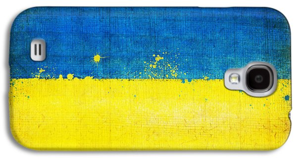 Dirty Digital Art Galaxy S4 Cases - Ukraine flag Galaxy S4 Case by Setsiri Silapasuwanchai