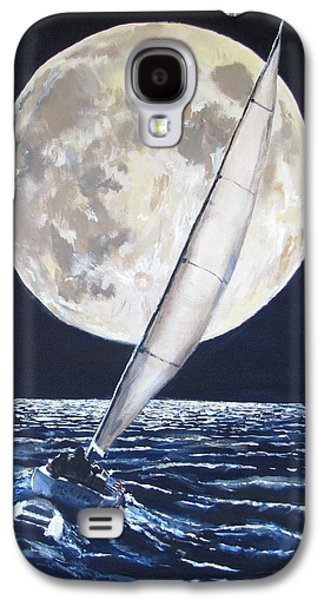 Jack Skinner Galaxy S4 Cases - Under Full Sail..Under Full Moon Galaxy S4 Case by Jack Skinner