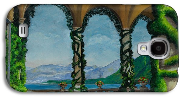 Lake Como Paintings Galaxy S4 Cases - Under The Arches At Villa Balvianella Galaxy S4 Case by Charlotte Blanchard