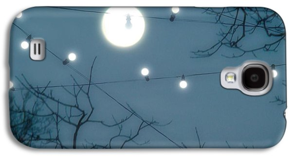 Surreal Landscape Galaxy S4 Cases - Under The Moonlit Sky Galaxy S4 Case by Gothicolors Donna Snyder