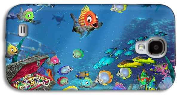 Schools Of Fish Galaxy S4 Cases - Underwater Fantasy Galaxy S4 Case by Doug Kreuger
