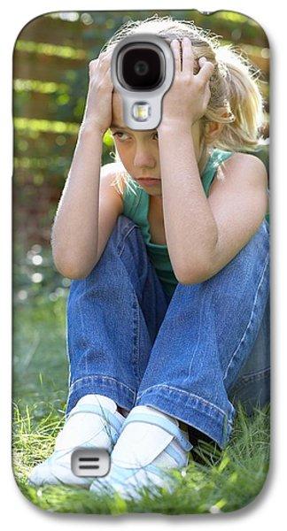 Contemplative Photographs Galaxy S4 Cases - Unhappy Girl Galaxy S4 Case by Ian Boddy