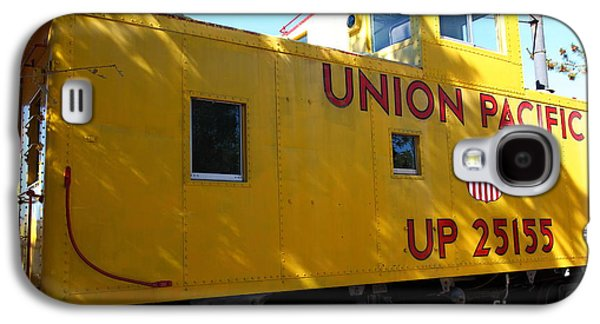 Old Caboose Galaxy S4 Cases - Union Pacific Caboose - 5D19205 Galaxy S4 Case by Wingsdomain Art and Photography