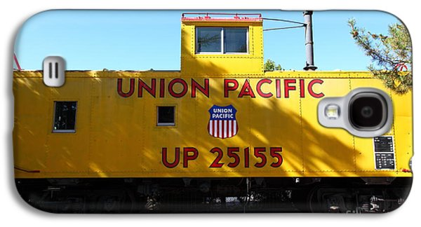 Old Caboose Galaxy S4 Cases - Union Pacific Caboose - 5D19206 Galaxy S4 Case by Wingsdomain Art and Photography