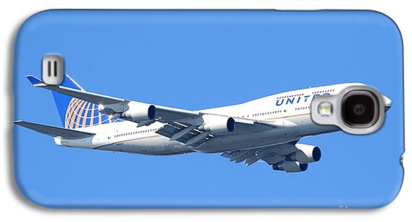 Jet Photographs Galaxy S4 Cases - United Airlines Boeing 747 . 7D7850 Galaxy S4 Case by Wingsdomain Art and Photography
