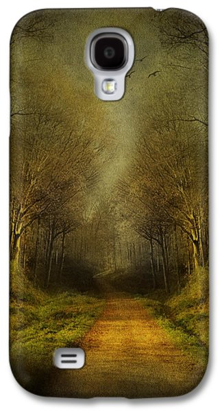 Garden Scene Mixed Media Galaxy S4 Cases - Unknown Footpath Galaxy S4 Case by Svetlana Sewell