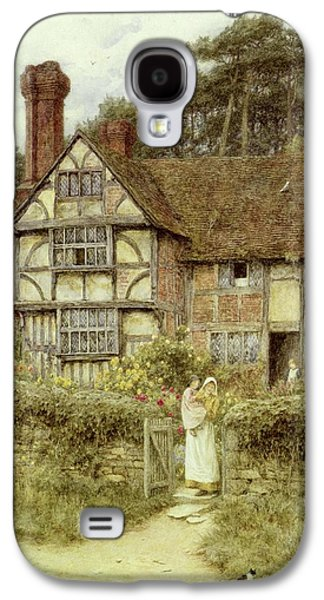 Country Paintings Galaxy S4 Cases - Unstead Farm Godalming Galaxy S4 Case by Helen Allingham
