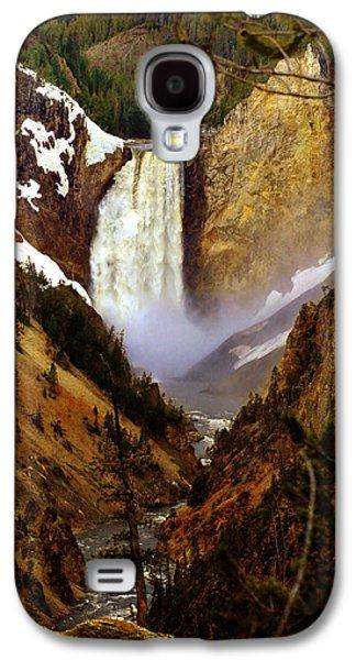 Yellowstone Digital Galaxy S4 Cases - Upper Yellowstone Falls Galaxy S4 Case by Ellen Heaverlo