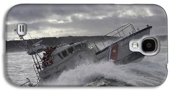 Horizontal Photographs Galaxy S4 Cases - U.s. Coast Guard Motor Life Boat Brakes Galaxy S4 Case by Stocktrek Images
