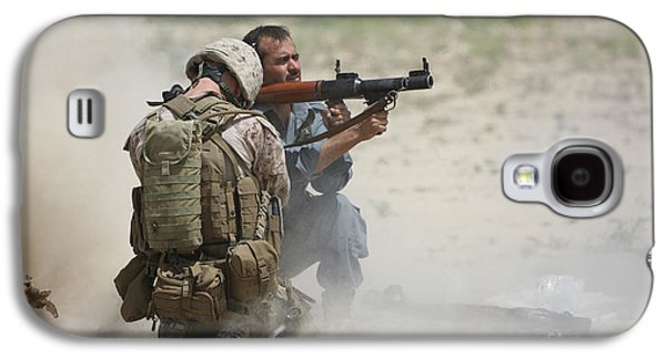 Rpg Galaxy S4 Cases - U.s. Marine Watches An Afghan Police Galaxy S4 Case by Terry Moore