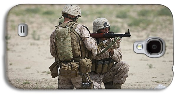 Rpg Galaxy S4 Cases - U.s. Marines Prepare A Fragmentation Galaxy S4 Case by Terry Moore