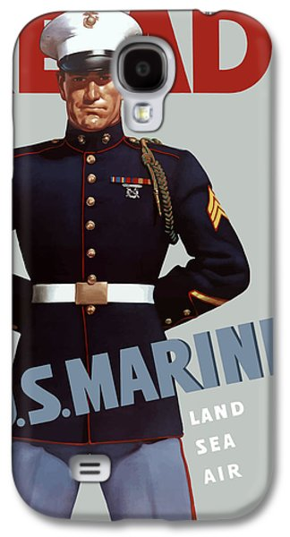 United States Galaxy S4 Cases - US Marines Ready Galaxy S4 Case by War Is Hell Store