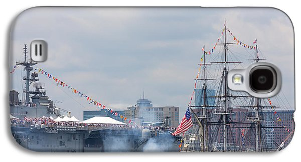 Recently Sold -  - 4th July Galaxy S4 Cases - USS Constitution Salutes USS Wasp Galaxy S4 Case by Susan Cole Kelly