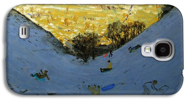 Valley And Sunlit Hillside Galaxy S4 Case by Andrew Macara