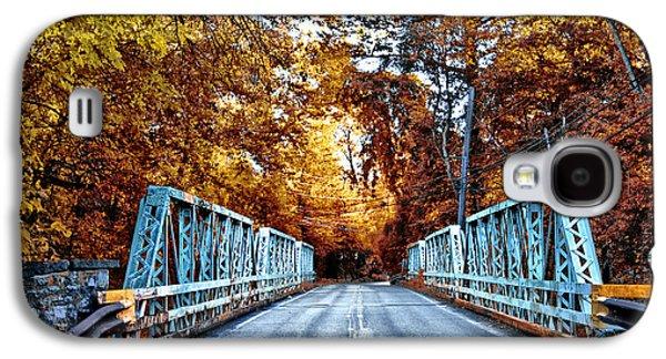Philadelphia Cricket Galaxy S4 Cases - Valley Green Road Bridge in Autumn Galaxy S4 Case by Bill Cannon