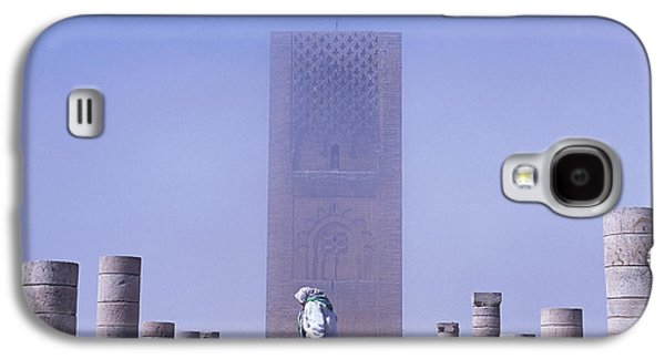 Rabat Photographs Galaxy S4 Cases - Veiled Woman Walking Infront Of Hassan Galaxy S4 Case by Axiom Photographic