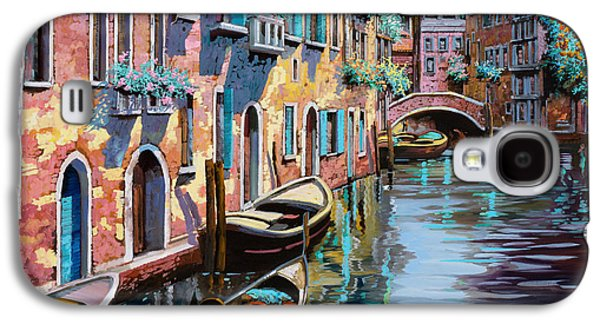 Bridge Galaxy S4 Cases - Venezia In Rosa Galaxy S4 Case by Guido Borelli