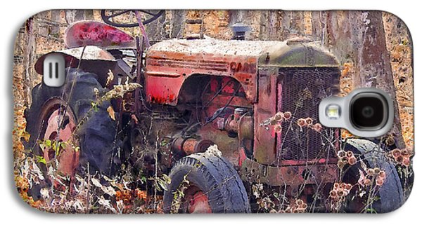 Machinery Galaxy S4 Cases - Vermont Farm Antique Tractor  Galaxy S4 Case by  Bob and Nadine Johnston