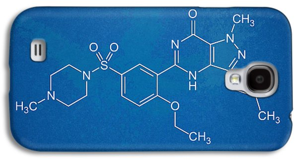 Pill Galaxy S4 Cases - Viagra Molecular Structure Blueprint Galaxy S4 Case by Nikki Marie Smith