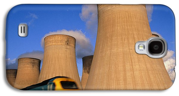 Towe Galaxy S4 Cases - View Of Cooling Towers And High Speed Train Galaxy S4 Case by Jeremy Walker