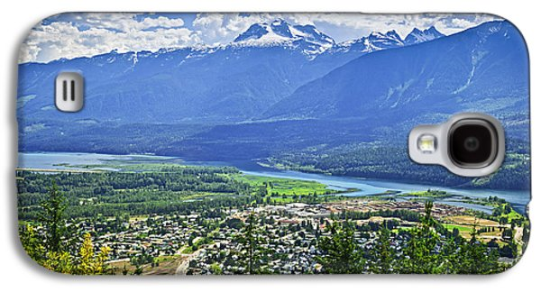 Town Galaxy S4 Cases - View of Revelstoke in British Columbia Galaxy S4 Case by Elena Elisseeva