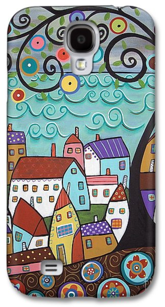 Abstract Canvas Galaxy S4 Cases - Village By The Sea Galaxy S4 Case by Karla Gerard