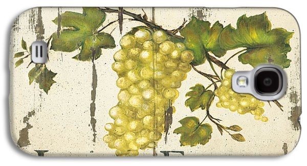 Wine Canvas Paintings Galaxy S4 Cases - Vineyard red wine sign Galaxy S4 Case by Grace Pullen