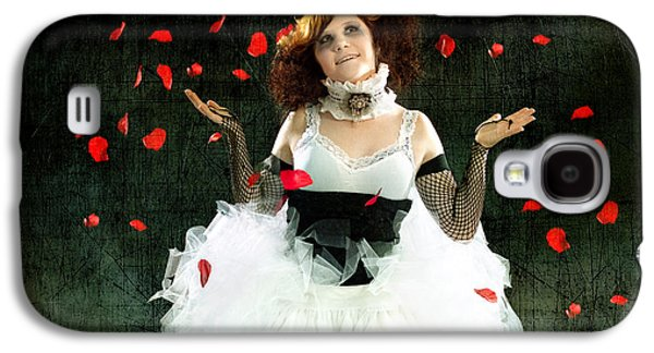 Juggling Galaxy S4 Cases - Vintage Dancer Series Raining Rose Petals  Galaxy S4 Case by Cindy Singleton