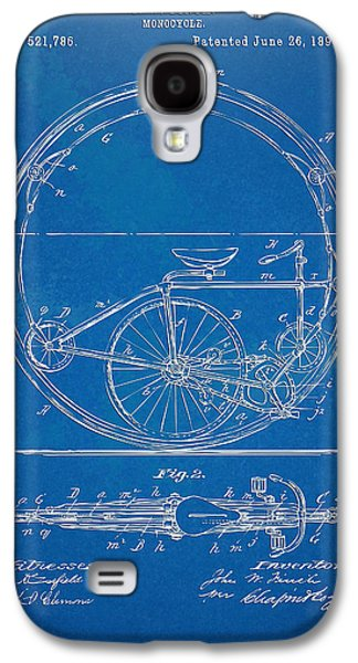 Vintage Monocycle Patent Artwork 1894 Galaxy S4 Case by Nikki Marie Smith